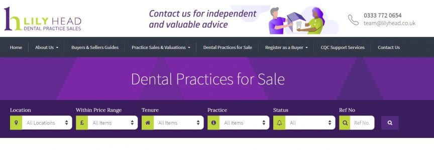 Dental Practices for Sale - Lily Head Dental Practice Sales
