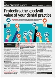 Protecting the goodwill value of your dental practice - Lily Head Dental Practice Sales