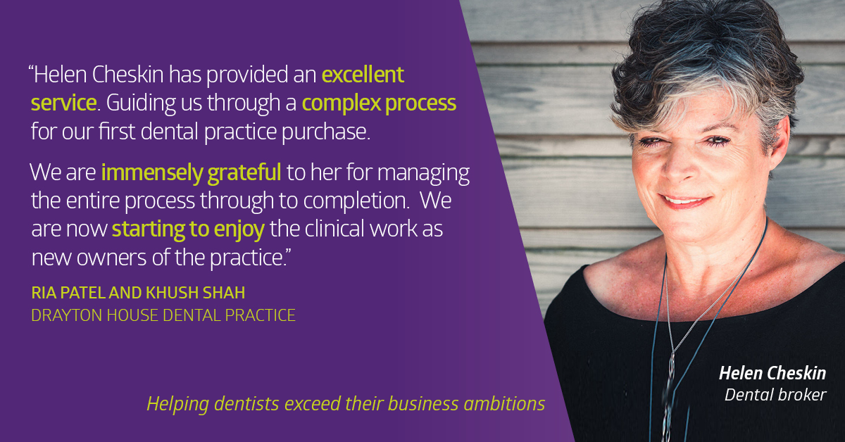 Drayton House Dental Practice Sold to Dr Ria Patel - Lily Head Dental Practice Sales